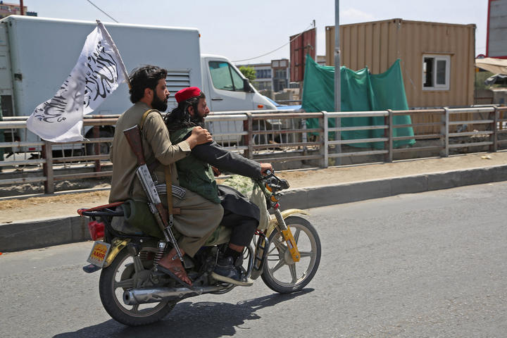 Taliban forces (similar to the ones shown in Kabul on August 16) quickly entered Kabul through rural and northern Afghanistan, which they quickly captured on August 15.