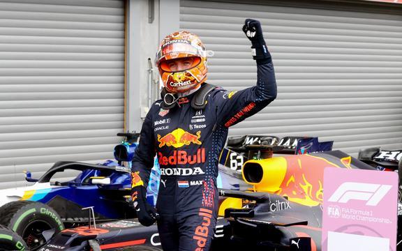 28 august 2021;  Spa-Francorchamps, Stavelot, Belgia: Marele Premiu FIA F1 al Belgiei, cursuri de calificare;  33 Max Verstappen Ned, Red Bull Racing