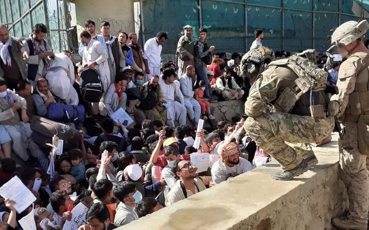NZDF personnel around Hamid Karzai International Airport in Kabul