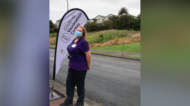 Coral Davis was an Air NZ flight attendant before becoming the caretaker of the Cove 19 Vaccination Center.