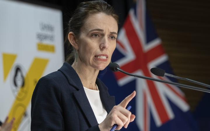 POOL -  Prime Minister Jacinda Arder during the Covid-19 response and vaccine update with director general of health Dr Ashley Bloomfield at Parliament, Wellington, on day 12 of the alert level 4 lockdown.  29 August, 2021  NZ Herald photograph by Mark Mitchell