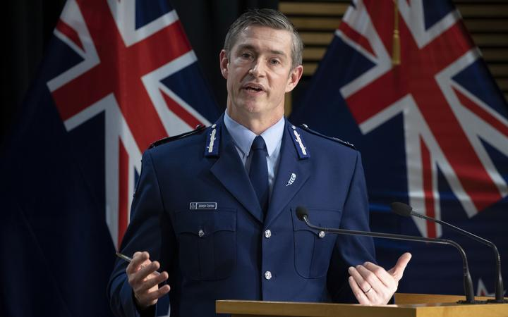 Police Commissioner Andrew Coster during the update on yesterday's terror attack in West Auckland, Parliament, Wellington. 04 September, 2021.  NZ Herald photograph by Mark Mitchell