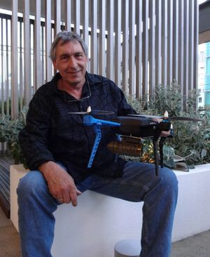 Inventor Gian Badraun won the product category for his Trap Minder technology that monitors predator traps and bait stations.