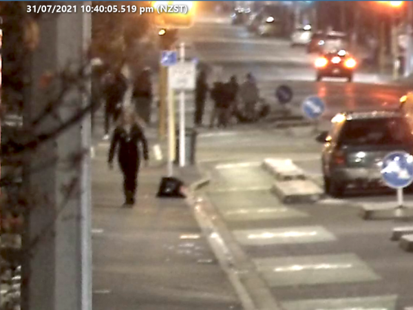 A CCTV footage of the Cumberland St. during the attack.