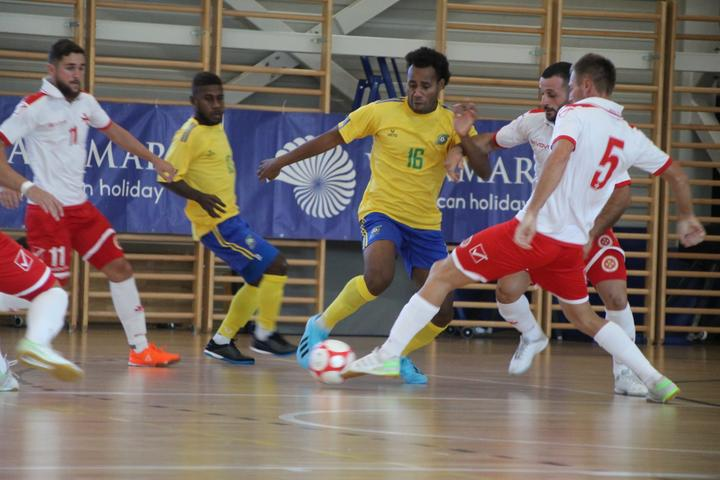 Solomon Islands in action against Malta.