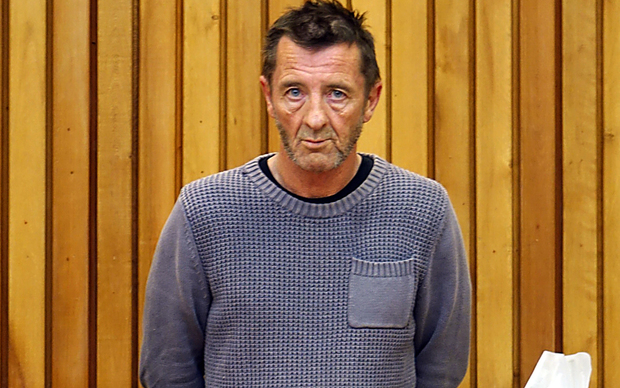 AC/DC drummer Phil Rudd is appearing in the Tauranga District Court