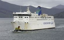 The ferry's propulsion shafts stopped responding as the vessel was berthing in Wellington on Thursday..