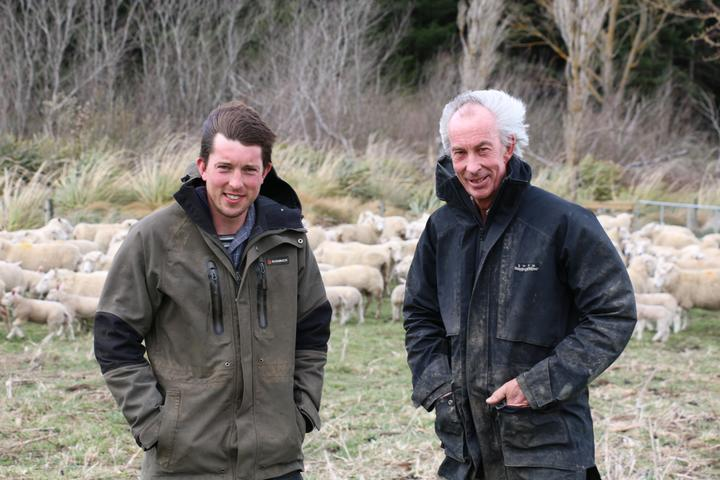 A windy day on the farm!  Hamish and Blair Gallagher