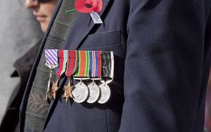 war medals on jacket