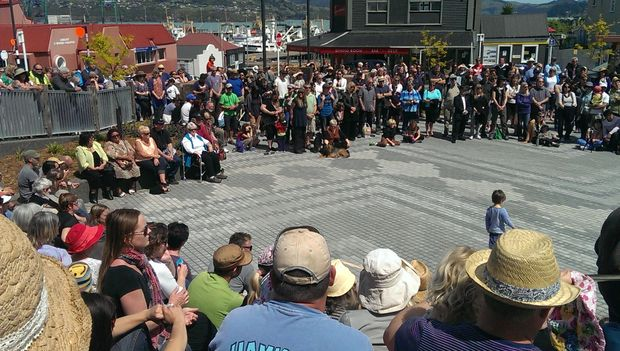 The opening of Lyttelton's new town square on 8 November 2014.