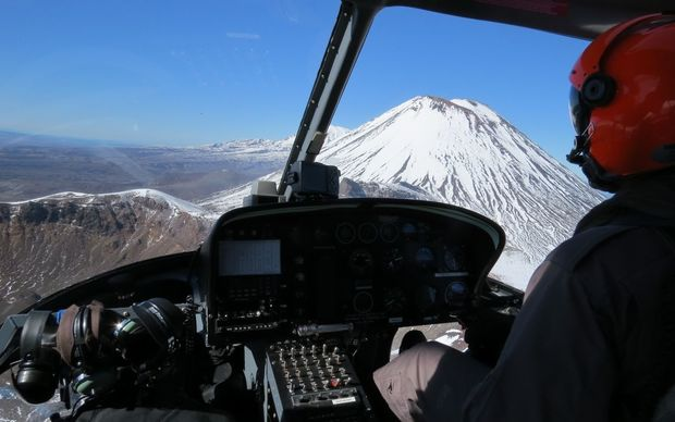 A rescue helicopter search team found the woman on Mt Ngauruhoe today.