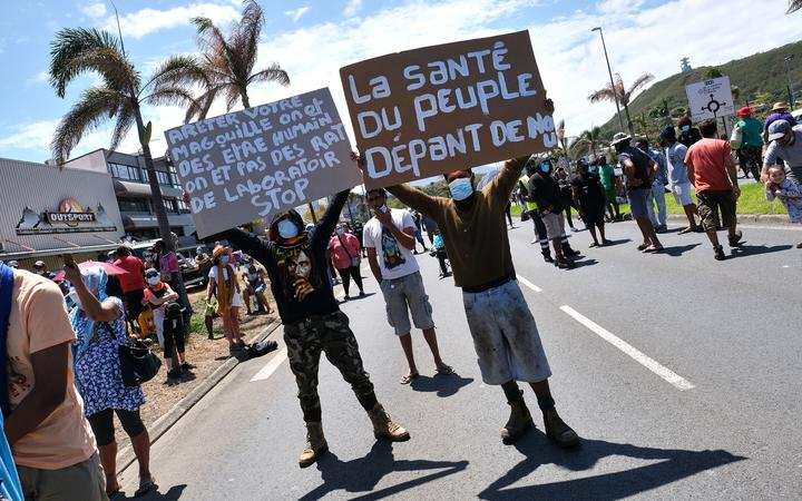 A New Caledonian demonstration against the mandatory vaccination against covid-19