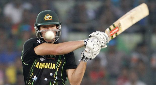 Australia's Cameron White batting.