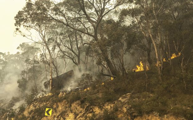 Australian firefighters say they will ground water-bombing helicopters if a drone aircraft flies near the fires they're fighting