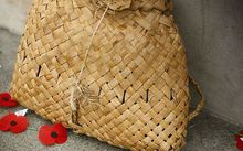 anzac poppies and kete