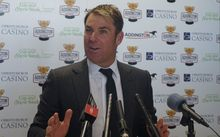 Australian cricket legend Shane Warne in Christchurch for Cup Day 2014.