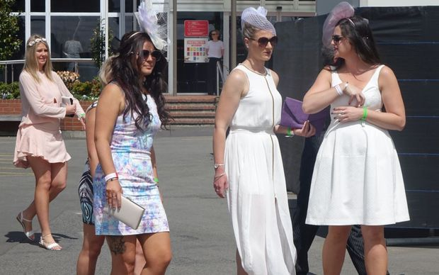 Frocked up for Cup Day in Christchurch.