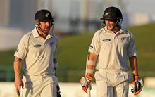 Brendon McCullum and Tom Latham during first Test against Pakistan in Abu Dhabi in 2014.