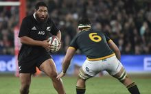 All Blacks prop Charlie Faumuina in action against the Springboks 2014.