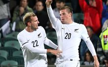 Chris Wood (right) and Jeremey Brockie