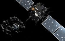 artist impression shows Philae separating from Rosetta