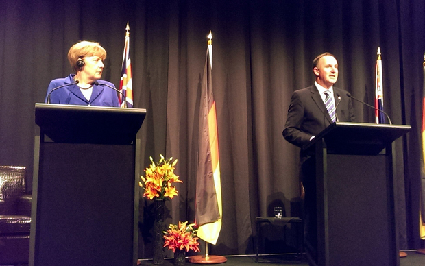 Angela Merkel and John Key