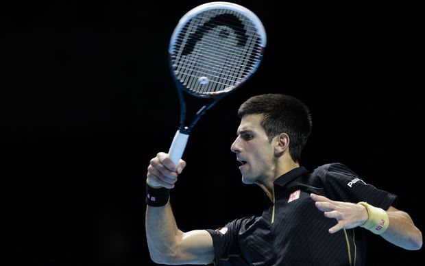 Novak Djokovic in action at the O2