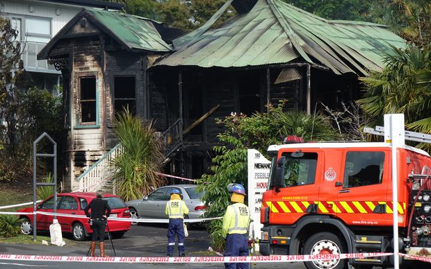 The Fire Service said it was called to the fire in Collingwood Street in Hamilton just after 5am.
