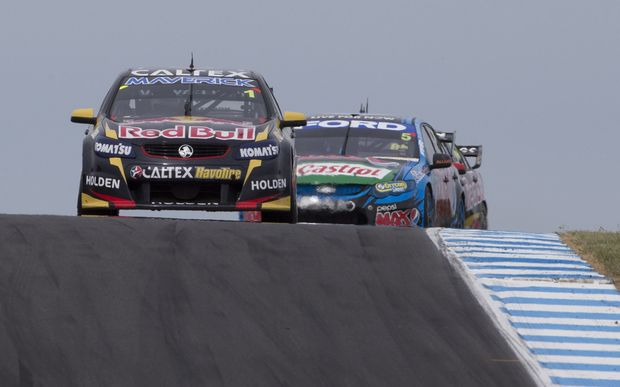 Jamie Whincup in action at Phillip Island