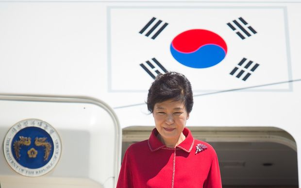 South Korean president Park Guen-hye arriving at the G20 Summit.