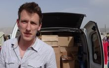 Peter Kassig on the Syrian border before being taken captive.