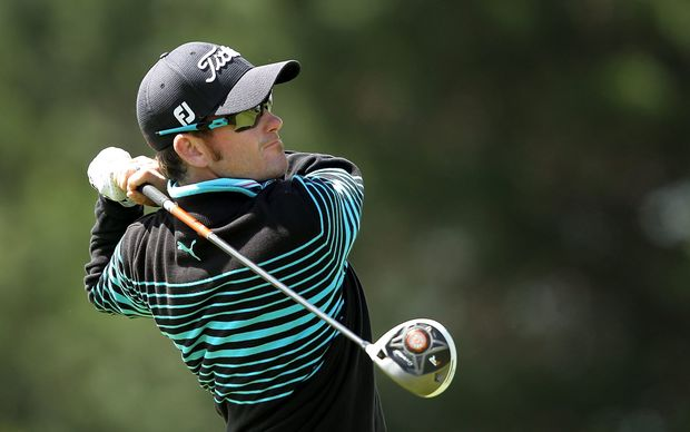 New Zealand golfer Josh Geary in action.