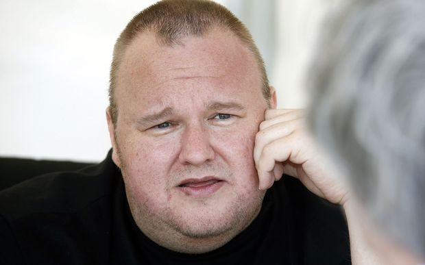 Kim Dotcom speaking to supporters of his Internet Party in Auckland, in April 2014.