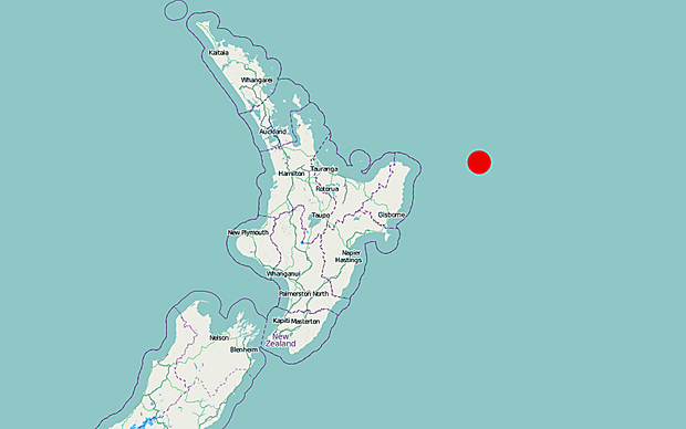 The quake was centred 155km east of Te Araroa.