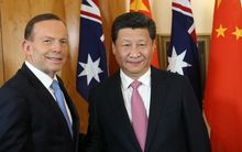 Tony Abbott and Xi Jinping