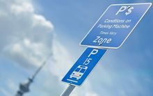 Auckland parking sign
