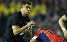 Scotland vs New Zealand All Blacks.New Zealand All Blacks Dan Carter.