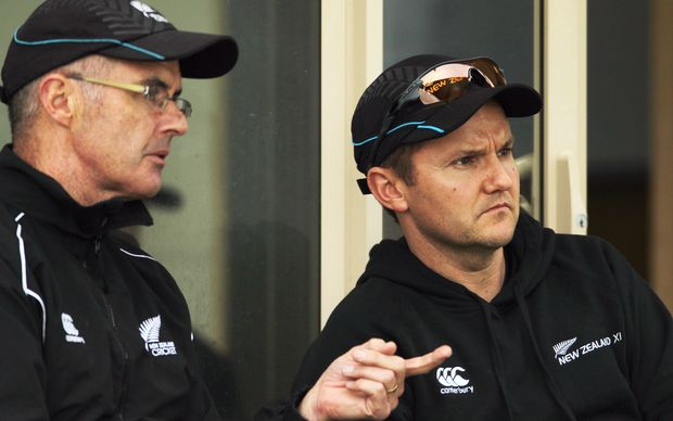 Do national selection manager Bruce Edgar (left) and coach Mike Hesson gamble on picking Ryder?