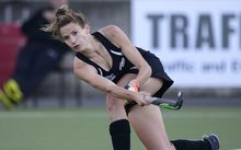 Black Sticks hockey player Pippa Hayward in action against Australia 2014.