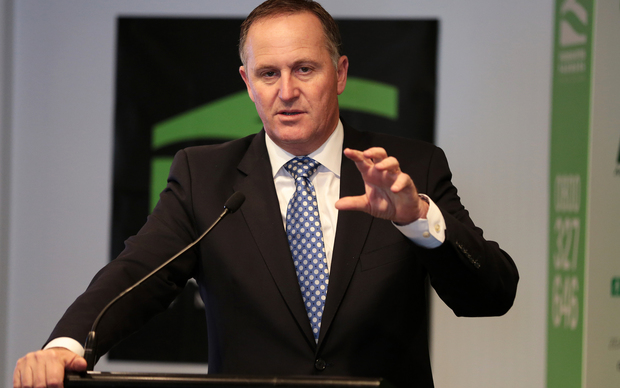 John Key speaking at the Federated Farmers meeting in Wellington.