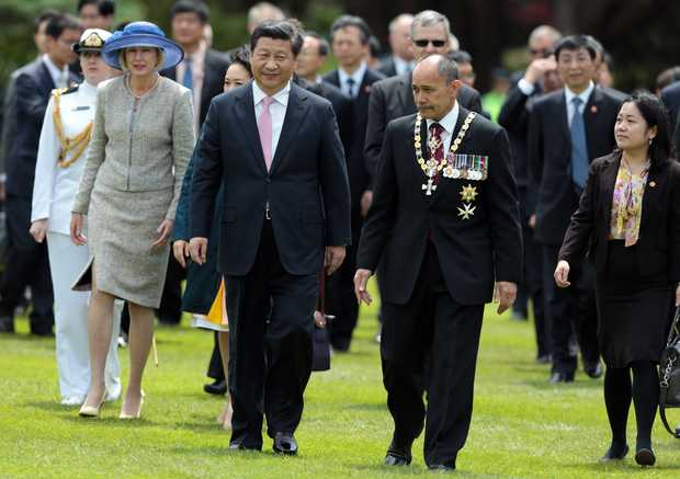 Xi Jinping visit to New Zealand.