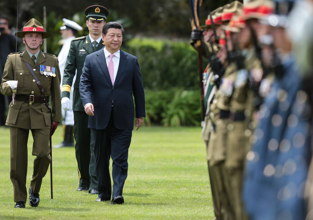 Xi Jinping in New Zealand.