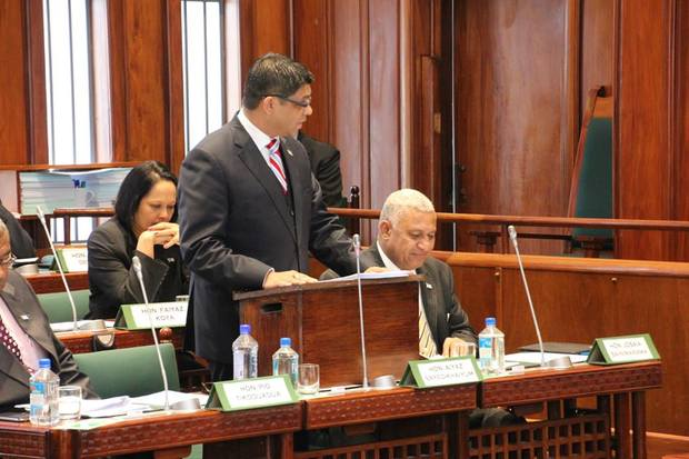 Finance Minister, Aiyaz Sayed-Khaiyum, announces Fiji's 2014-15 budget