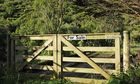 farm gate - sale sign