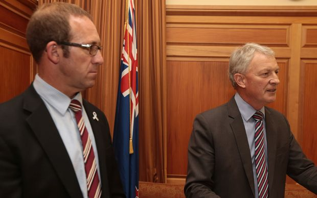 Andrew Little and Phil Goff