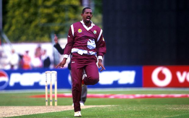 The former West Indies batsman now Ireland cricket coach Phil Simmons in action for the West Indies against New Zealand in England. 1999.