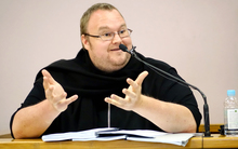Kim Dotcom in the Auckland District Court.