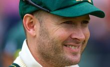 Australia captain Michael Clarke has been at Phil Hughes' bedside.