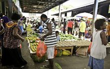 The Honiara Central Market, the largest in the country.