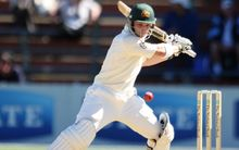 Phil Hughes in Action for Australia at the Basin Reserve, 2010.